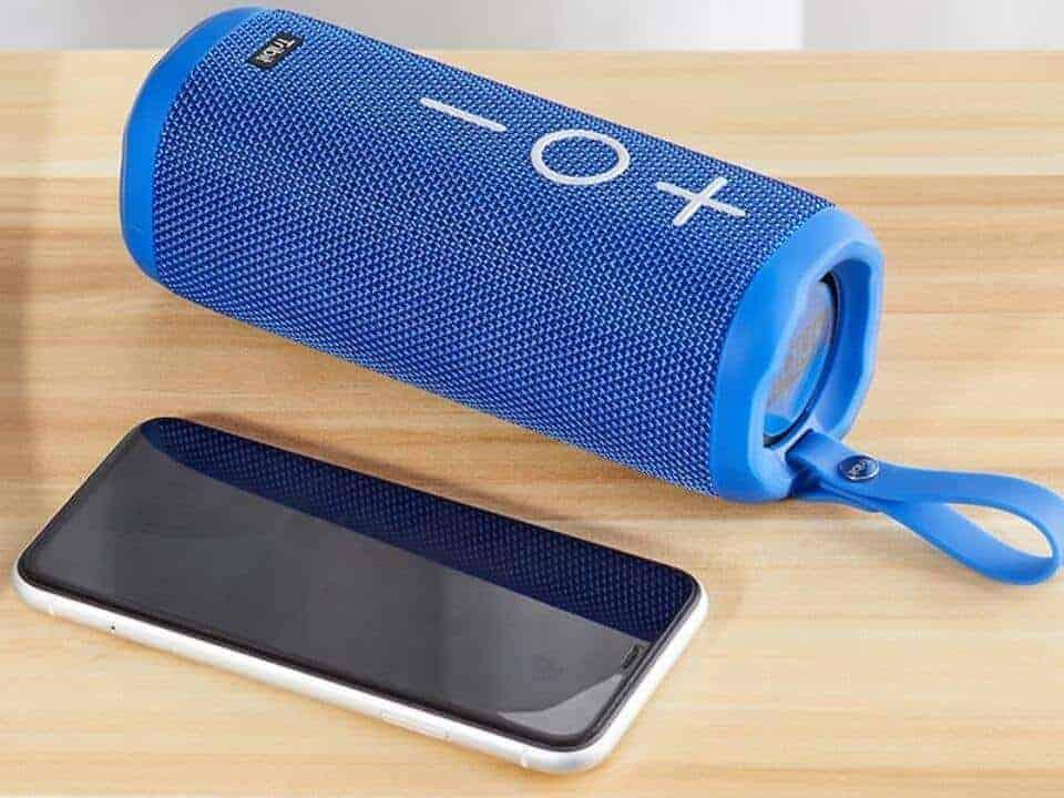Blue stormbox speaker